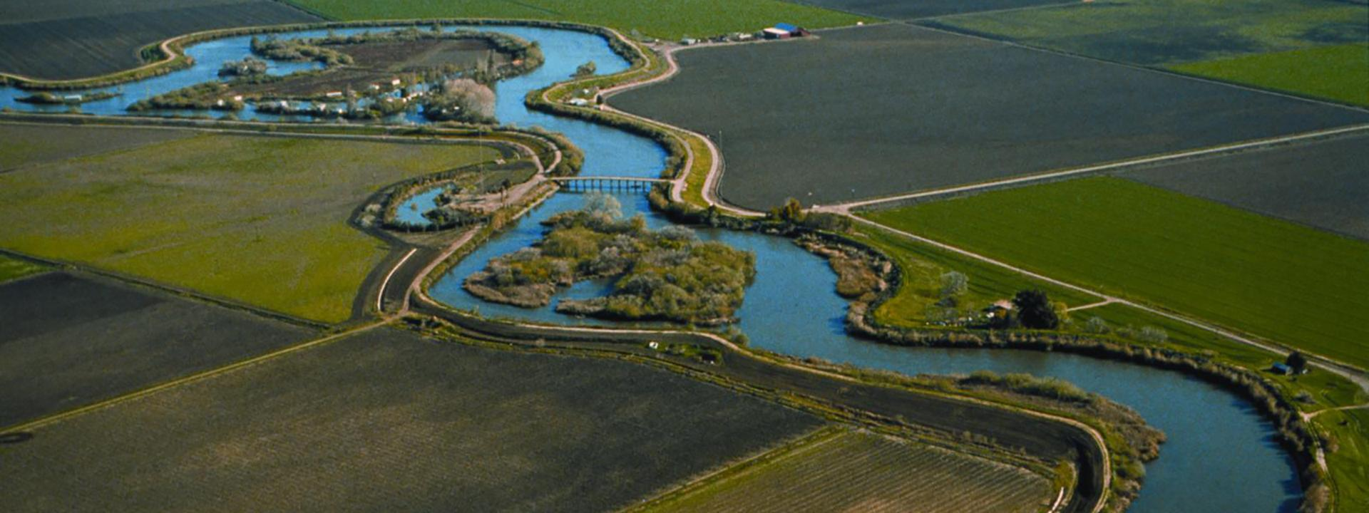Aerial view of the Delta