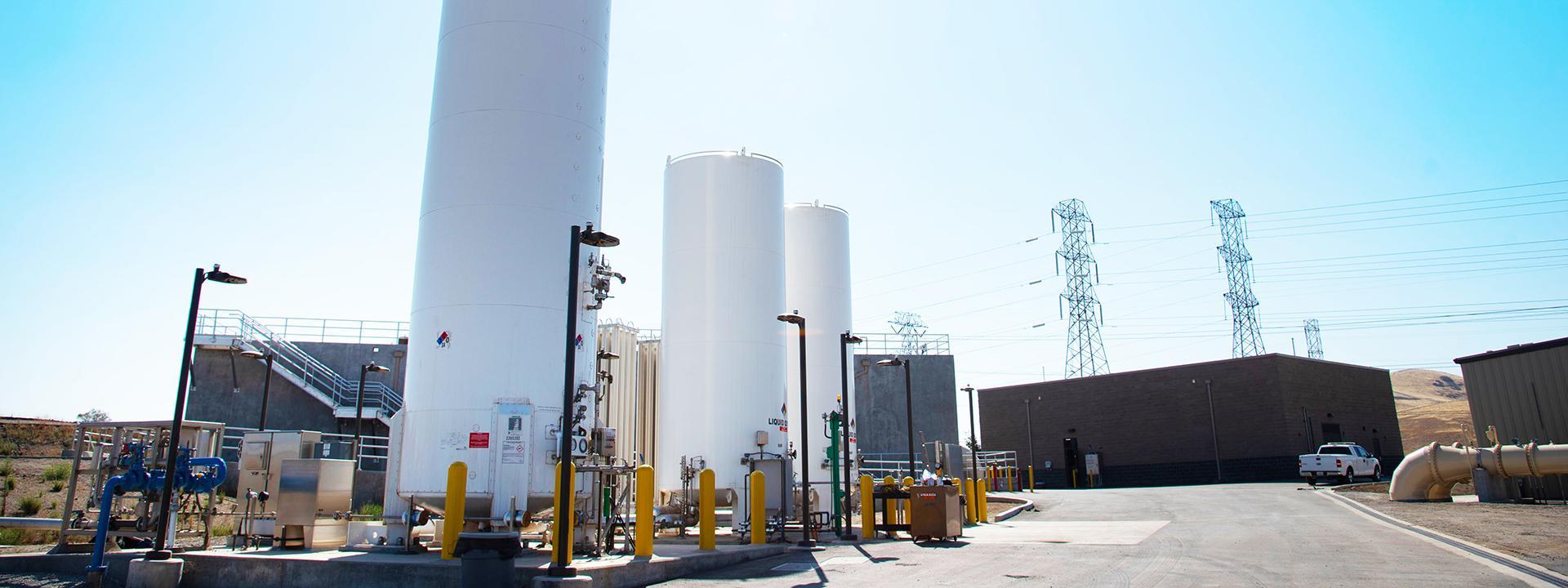 Liquid Oxygen Tanks and Ozone Generator Building
